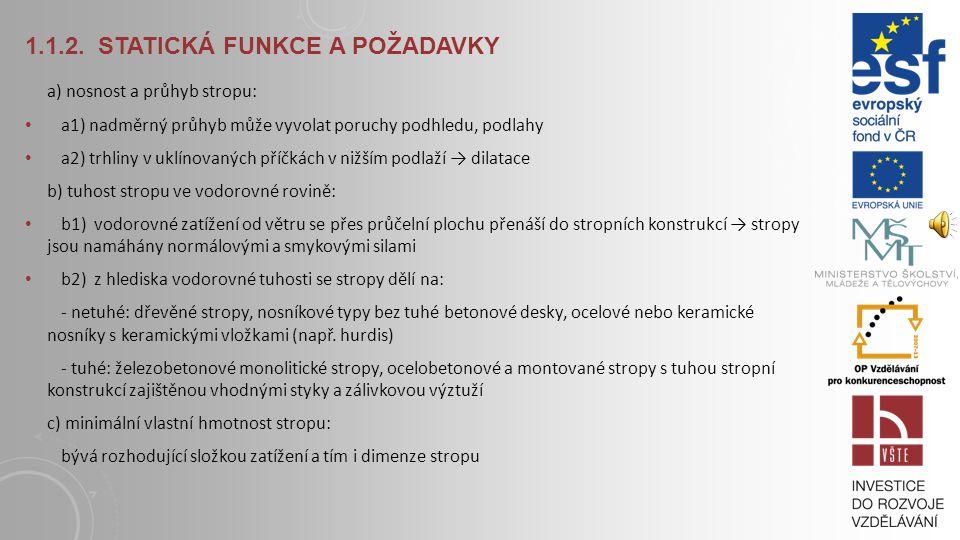1.1.2. Statická funkce a požadavky
