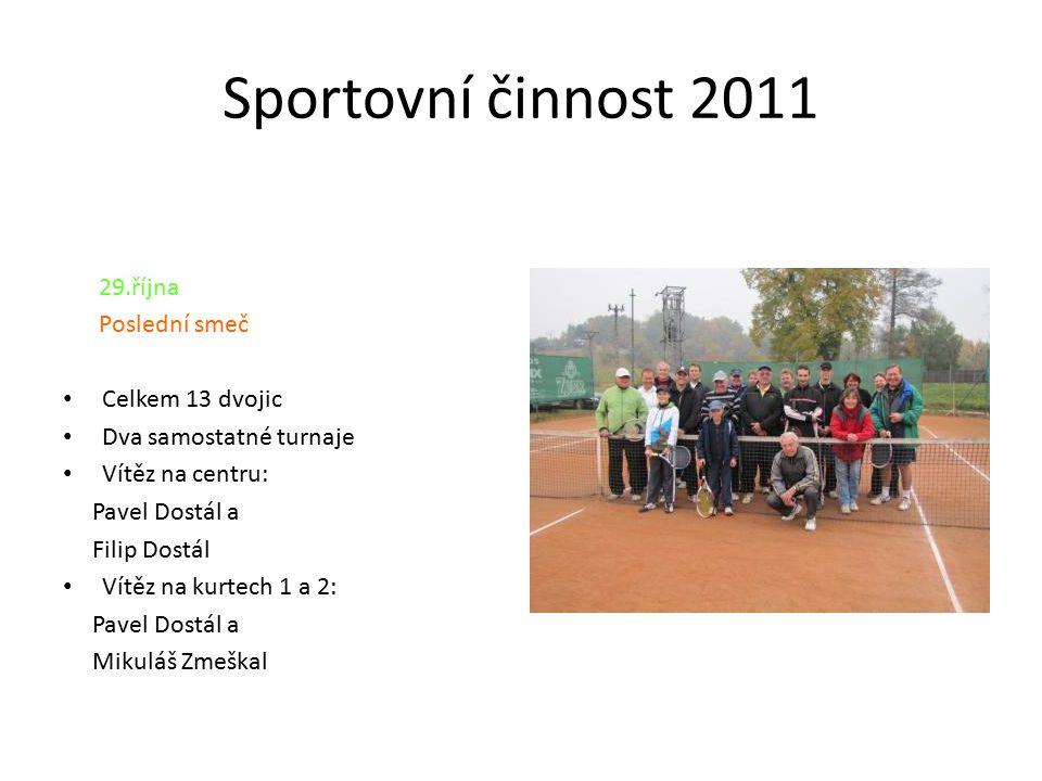 Sportovní činnost 2011 Poslední smeč Celkem 13 dvojic