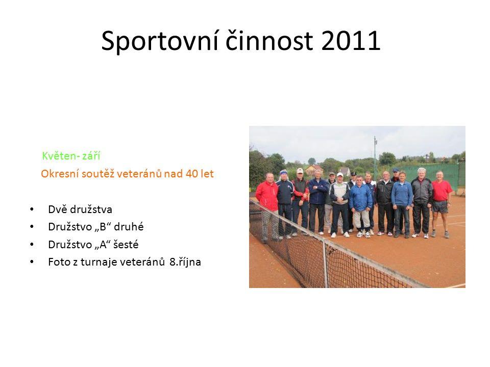 Sportovní činnost 2011 Květen- září Okresní soutěž veteránů nad 40 let