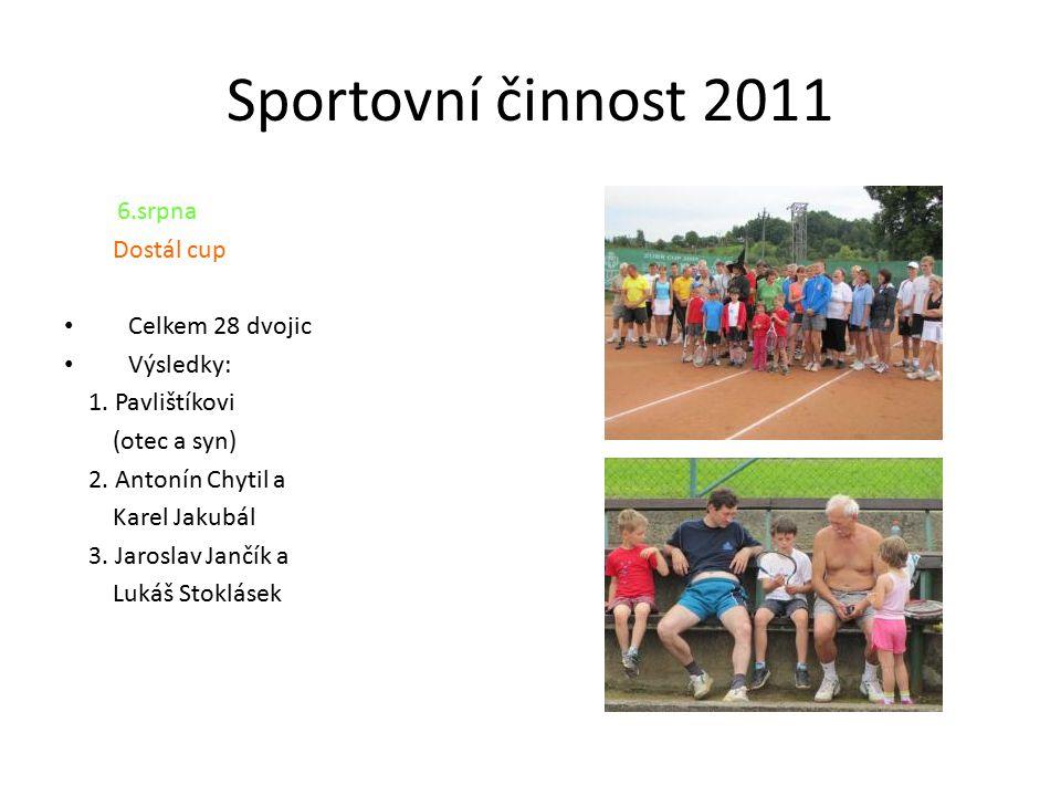Sportovní činnost 2011 6.srpna Dostál cup Celkem 28 dvojic Výsledky: