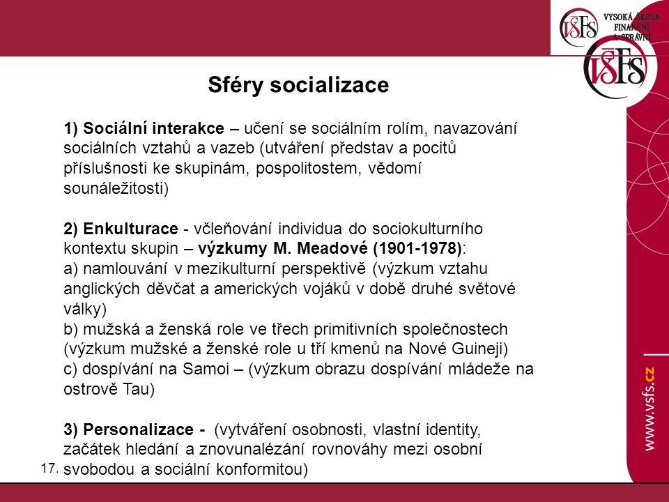 Sféry socializace