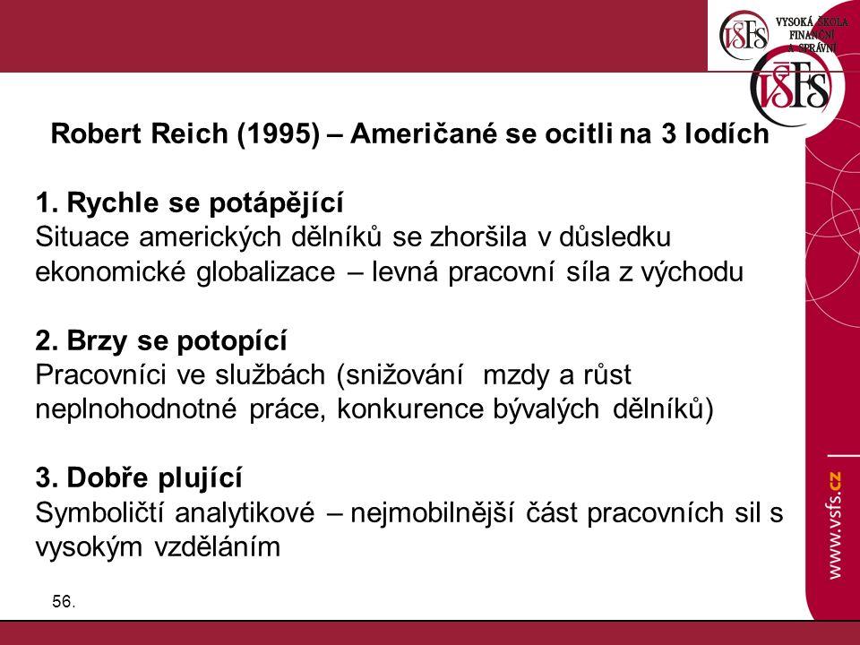 Robert Reich (1995) – Američané se ocitli na 3 lodích