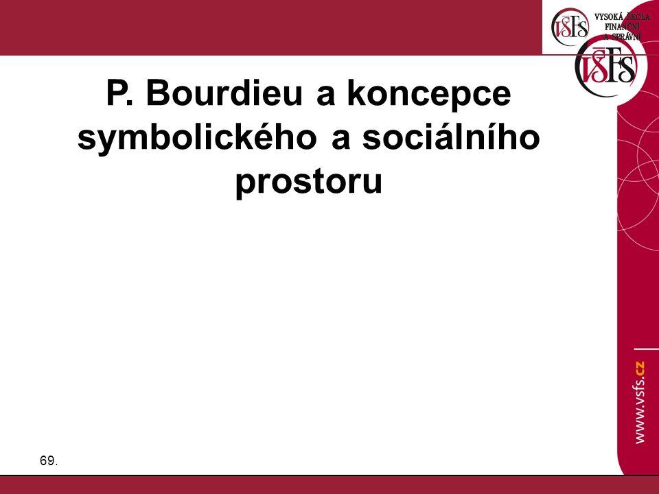 P. Bourdieu a koncepce symbolického a sociálního prostoru