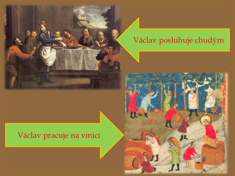 Václav posluhuje chudým