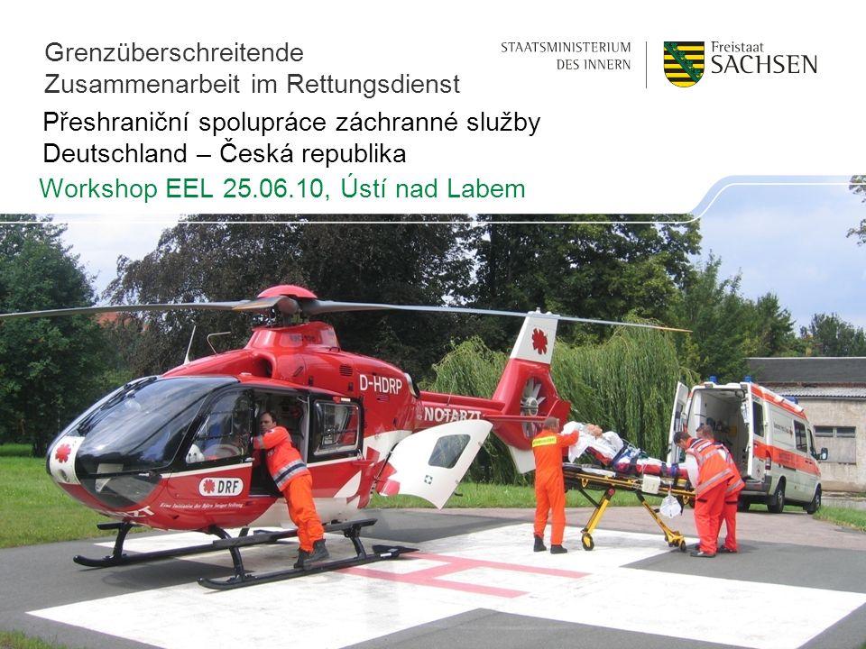 Přeshraniční spolupráce záchranné služby Deutschland – Česká republika