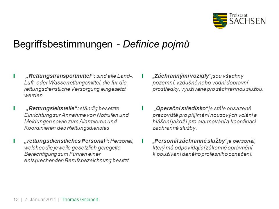 Begriffsbestimmungen - Definice pojmů