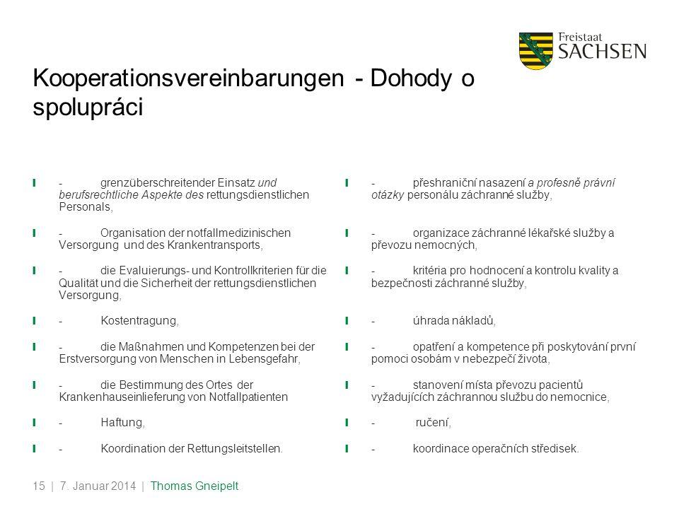 Kooperationsvereinbarungen - Dohody o spolupráci
