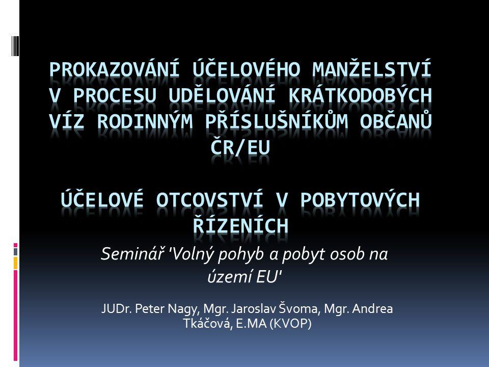 Seminář Volný pohyb a pobyt osob na území EU