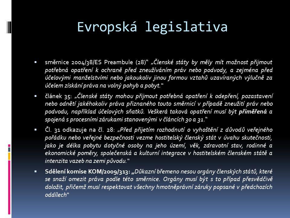 Evropská legislativa