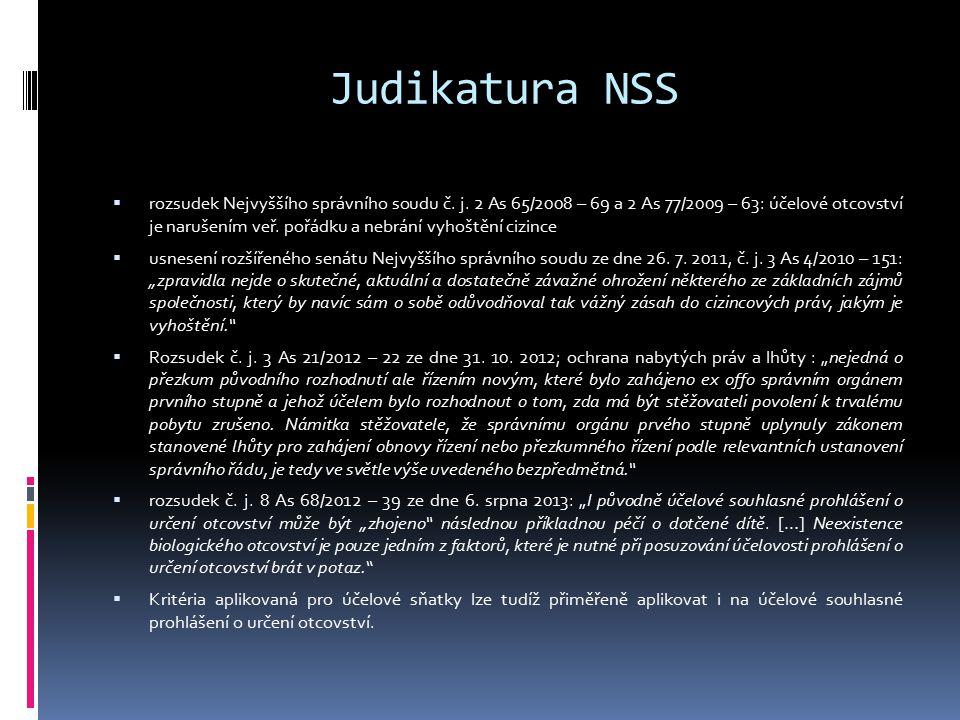 Judikatura NSS