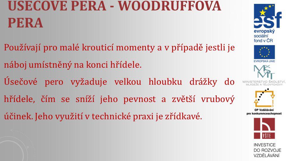 Úsečové pera - Woodruffova pera