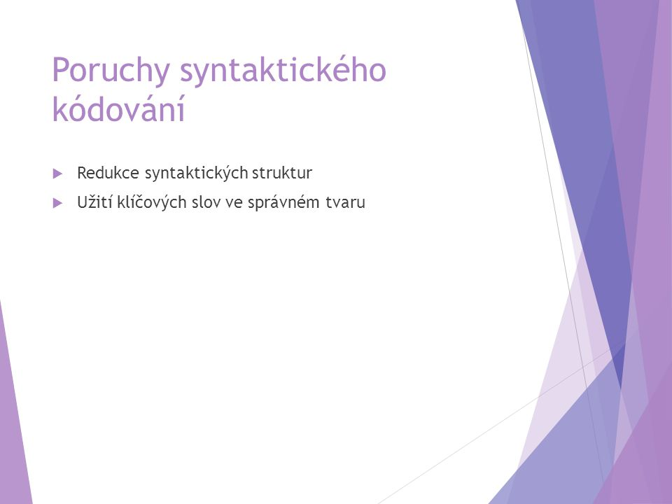 Poruchy syntaktického kódování