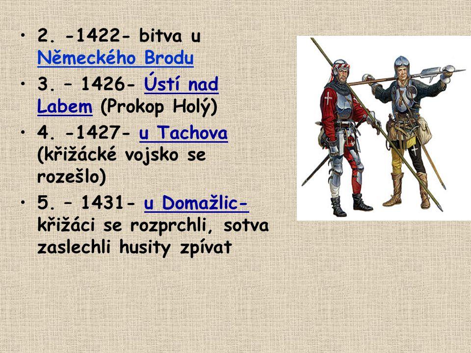 2. -1422- bitva u Německého Brodu