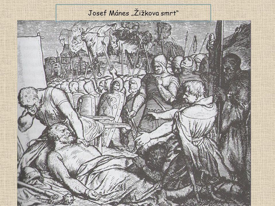 "Josef Mánes ""Žižkova smrt"