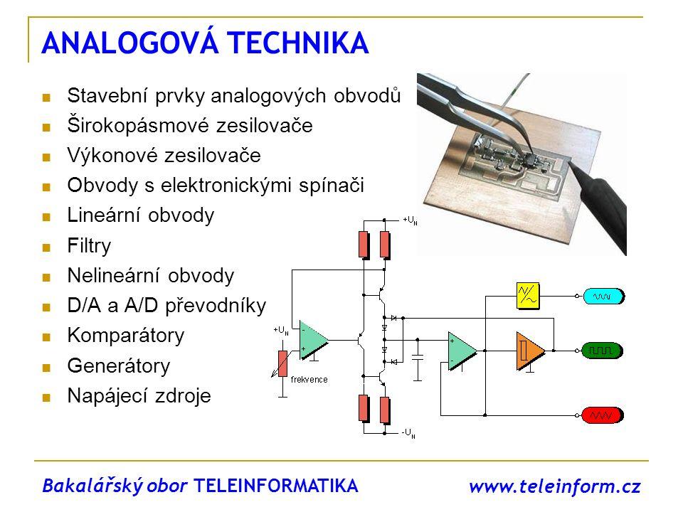 ANALOGOVÁ TECHNIKA Stavební prvky analogových obvodů