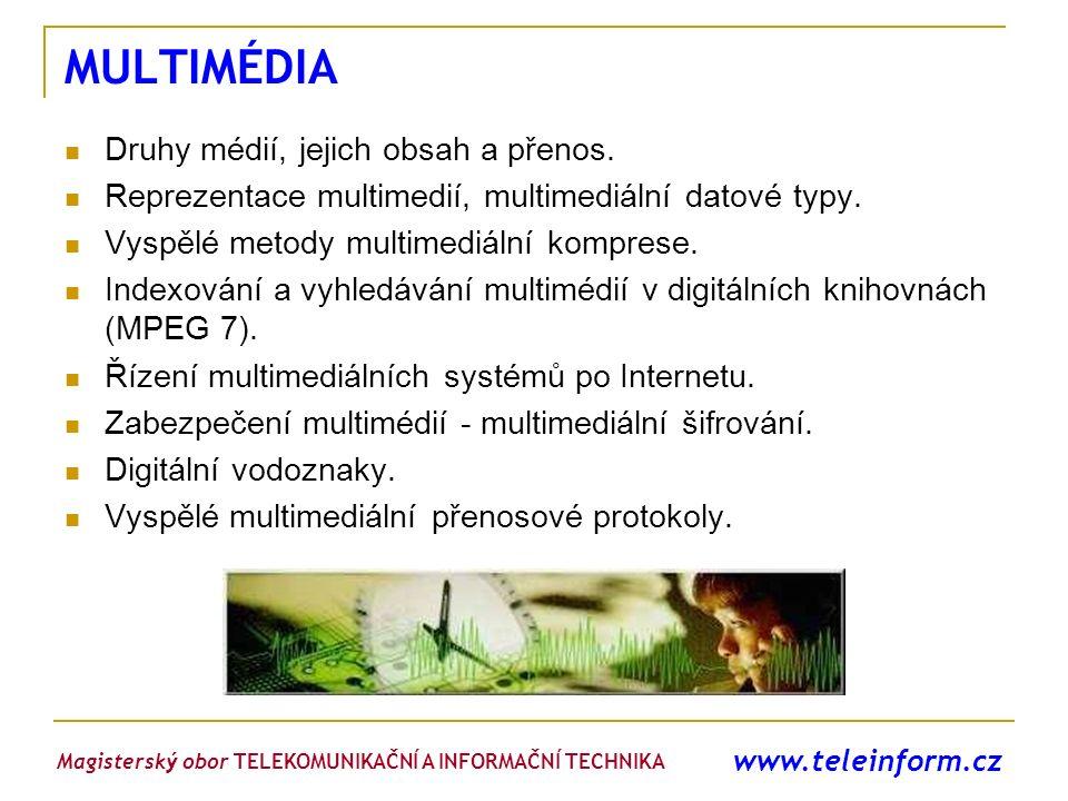 MULTIMÉDIA Druhy médií, jejich obsah a přenos.