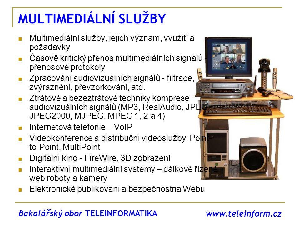 MULTIMEDIÁLNÍ SLUŽBY Multimediální služby, jejich význam, využití a požadavky. Časově kritický přenos multimediálních signálů - přenosové protokoly.