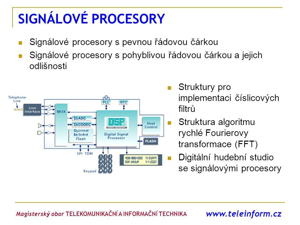 SIGNÁLOVÉ PROCESORY Signálové procesory s pevnou řádovou čárkou