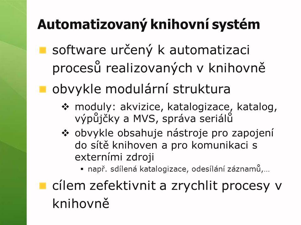 Automatizovaný knihovní systém