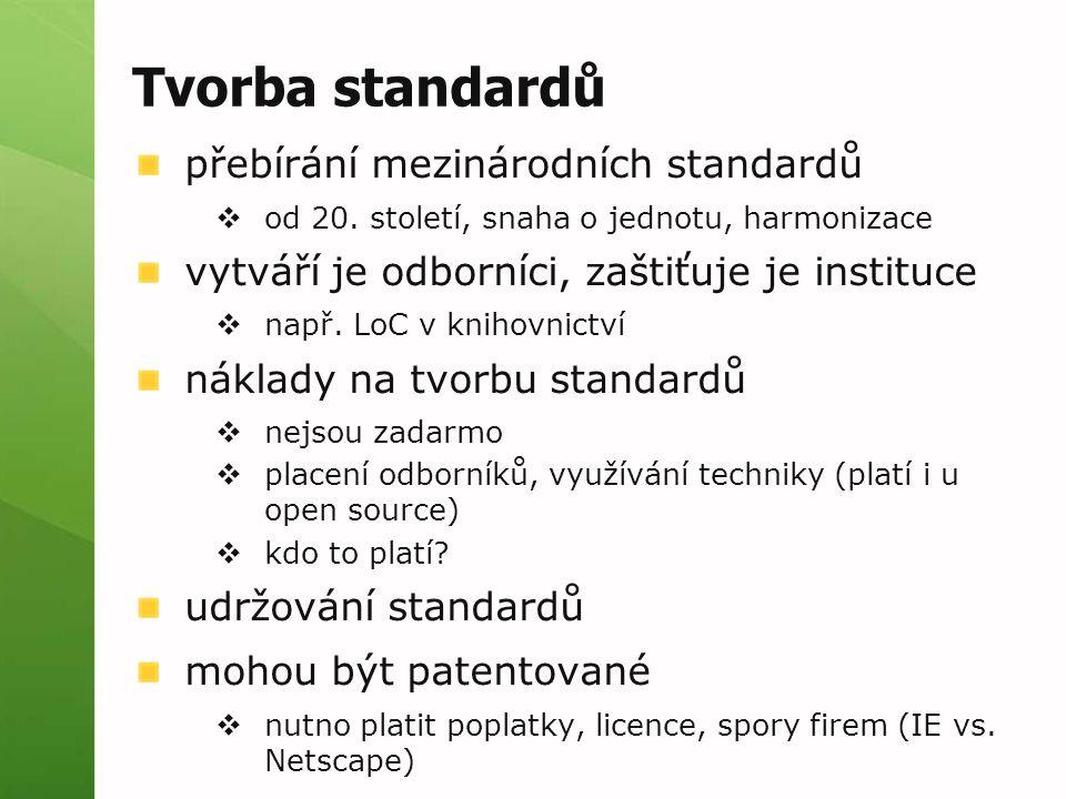 Tvorba standardů přebírání mezinárodních standardů