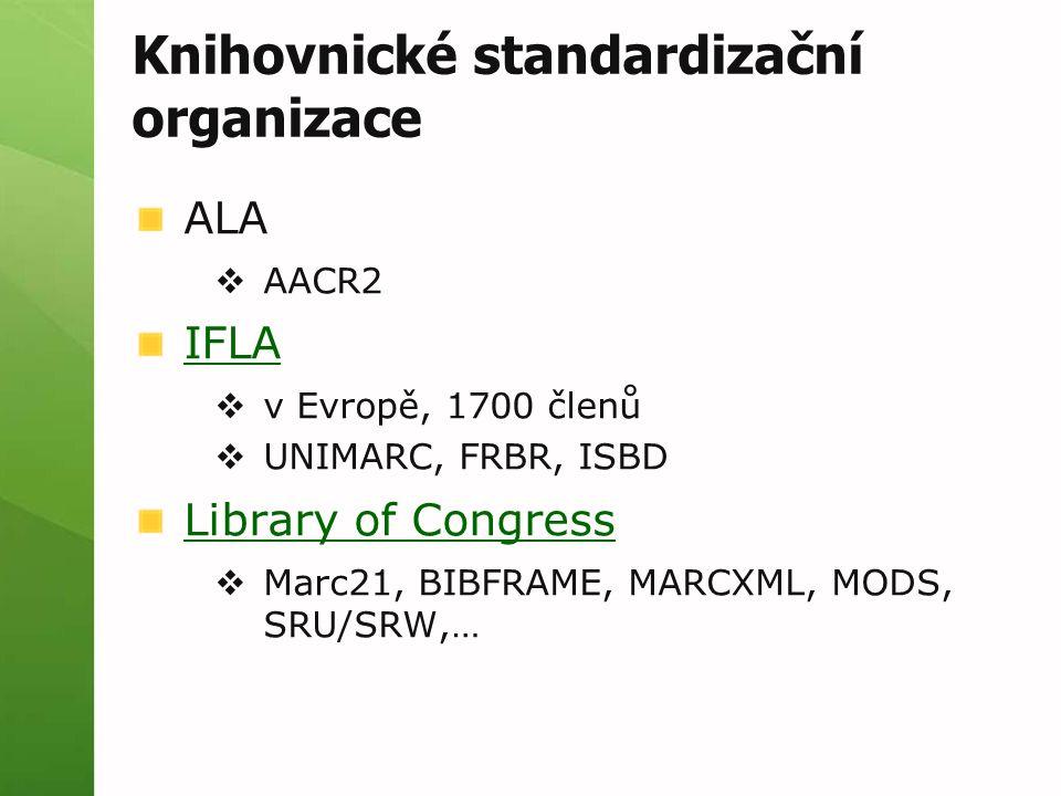 Knihovnické standardizační organizace