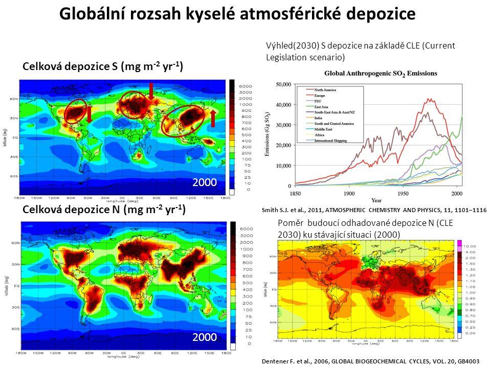 Globální rozsah kyselé atmosférické depozice