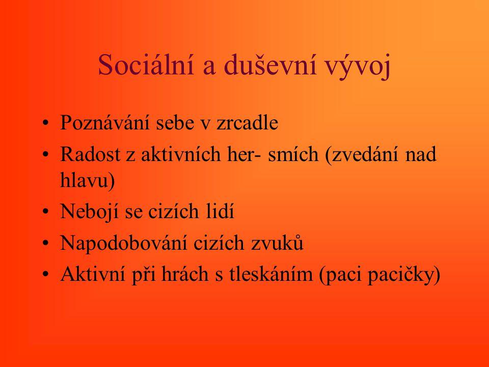 Sociální a duševní vývoj