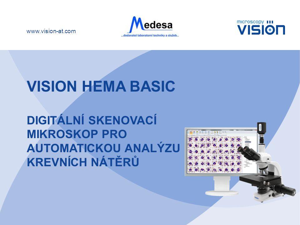 Vision Hema BASIC Digitální skenovací mikroskop pro automatickou analýzu krevních nátěrů