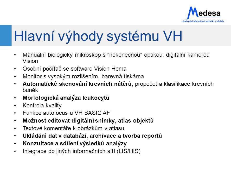 Hlavní výhody systému VH