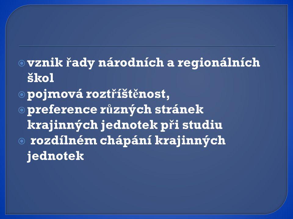 vznik řady národních a regionálních škol