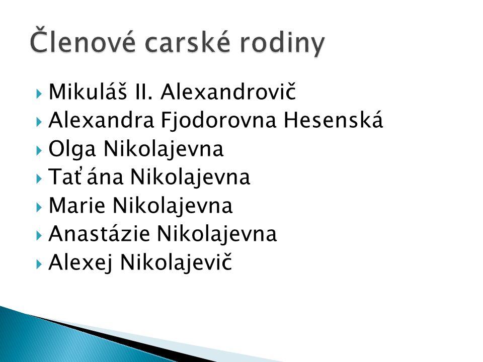 Členové carské rodiny Mikuláš II. Alexandrovič