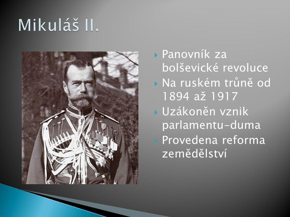 Mikuláš II. Panovník za bolševické revoluce