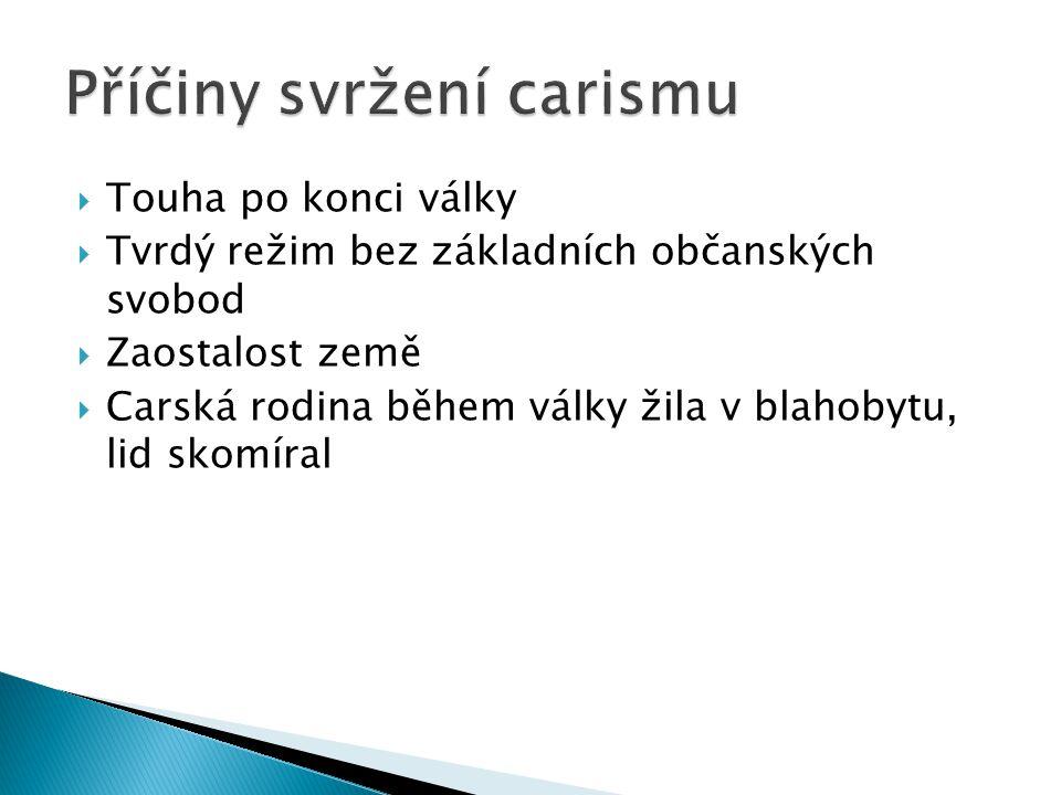 Příčiny svržení carismu