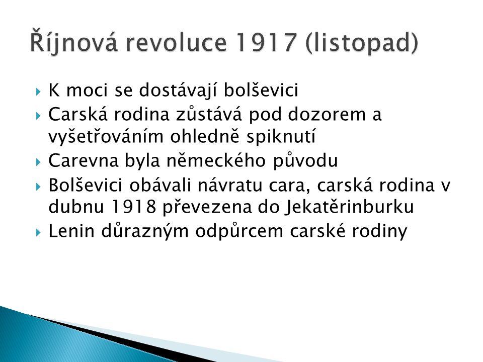 Říjnová revoluce 1917 (listopad)