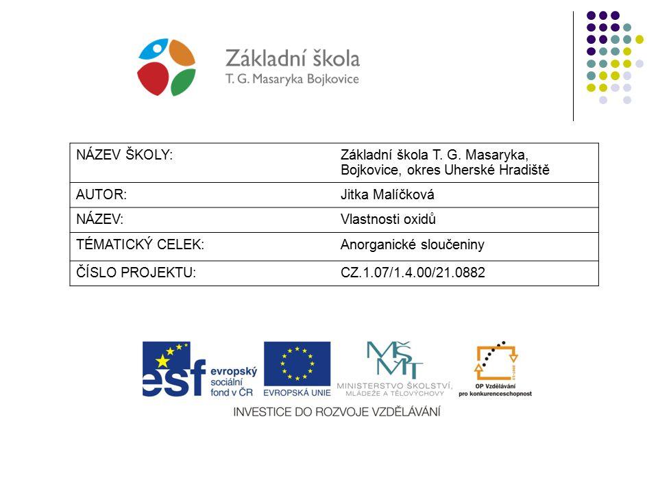 Základní škola T. G. Masaryka, Bojkovice, okres Uherské Hradiště