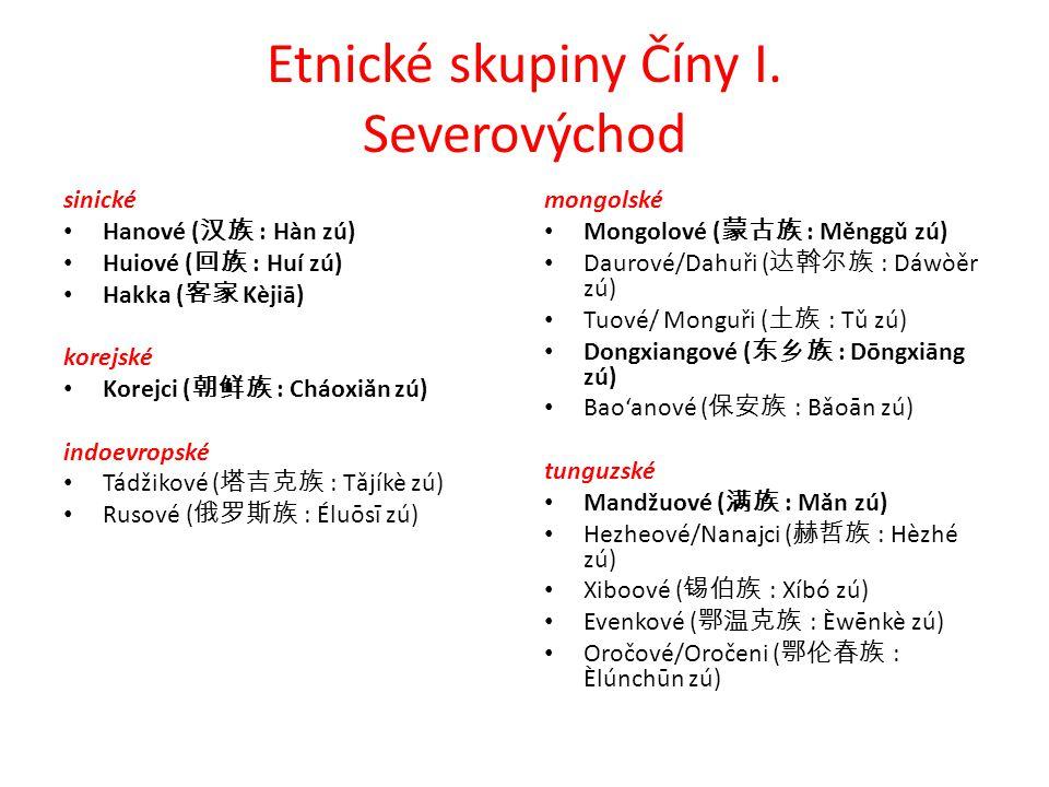 Etnické skupiny Číny I. Severovýchod
