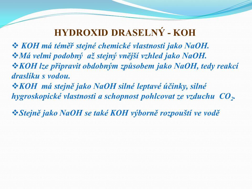 HYDROXID DRASELNÝ - KOH