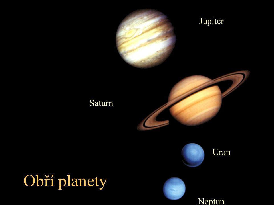 Jupiter Saturn Uran Neptun Obří planety