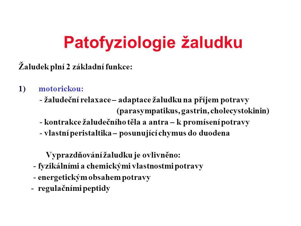 Patofyziologie žaludku