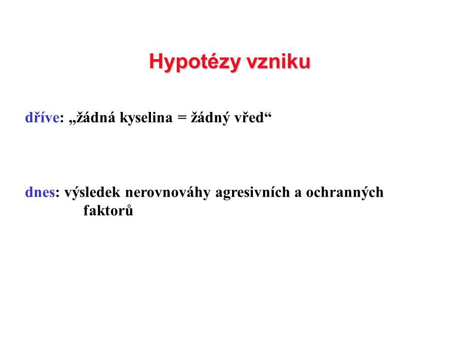 """Hypotézy vzniku dříve: """"žádná kyselina = žádný vřed"""