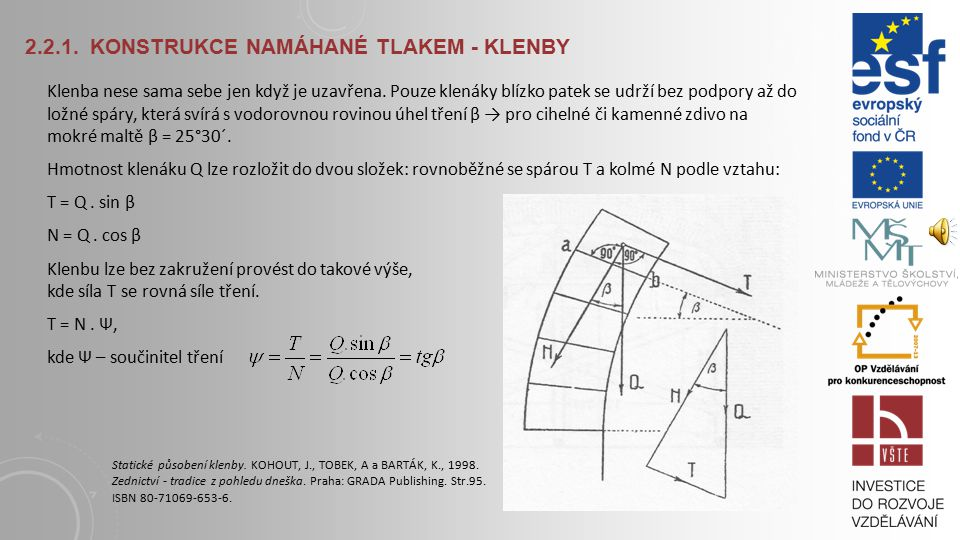 2.2.1. Konstrukce namáhané tlakem - klenby