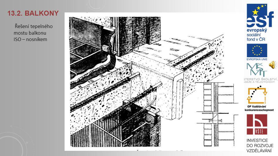 13.2. Balkony Řešení tepelného mostu balkonu ISO – nosníkem