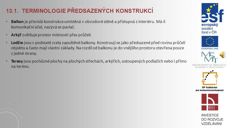 13.1. Terminologie předsazených konstrukcí