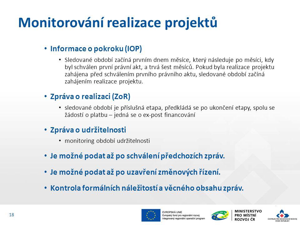 Monitorování realizace projektů