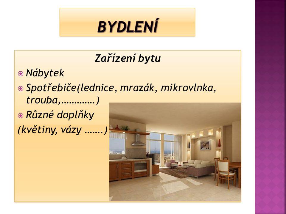Bydlení Zařízení bytu Nábytek