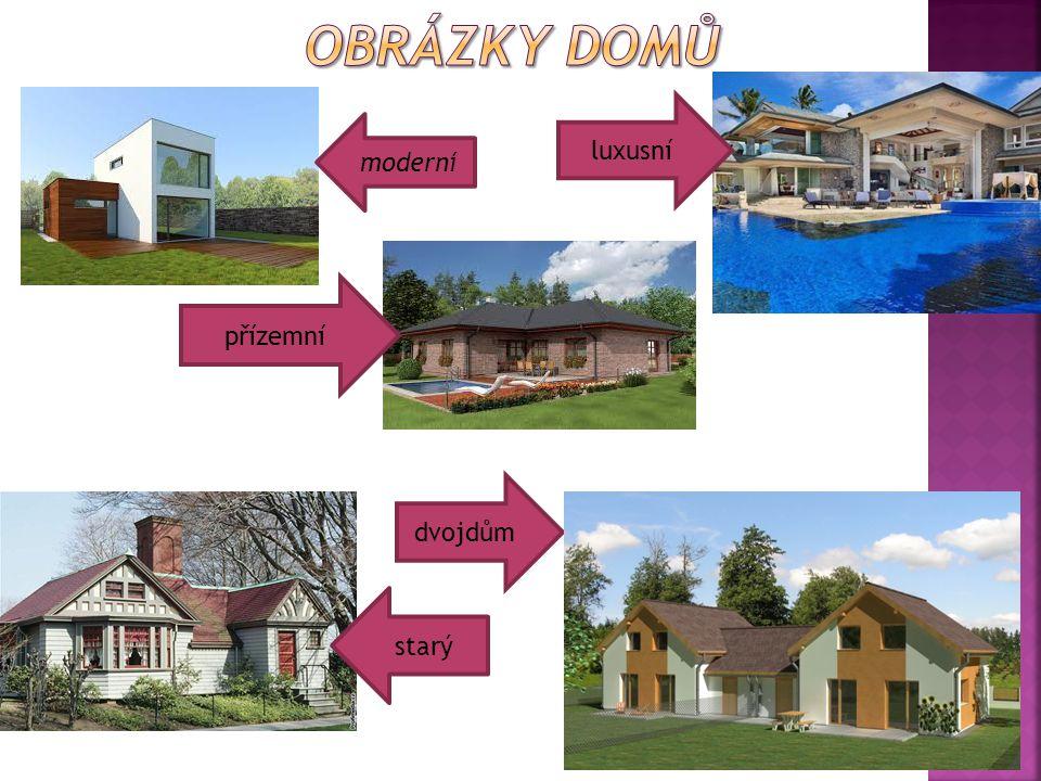 Obrázky domů luxusní moderní přízemní dvojdům starý