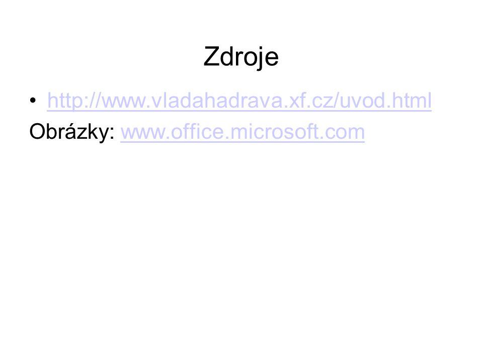 Zdroje http://www.vladahadrava.xf.cz/uvod.html