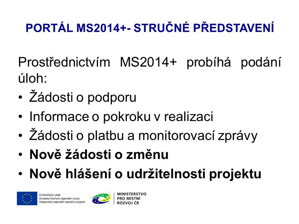 Portál MS2014+- stručné představení