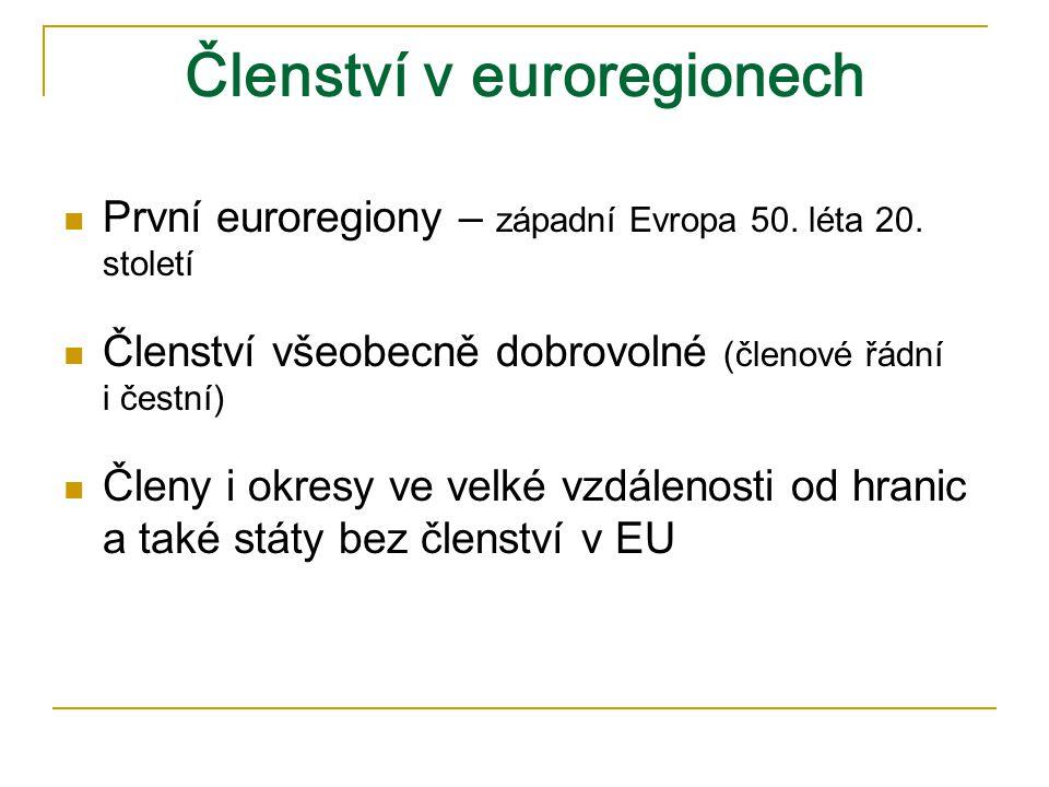 Členství v euroregionech
