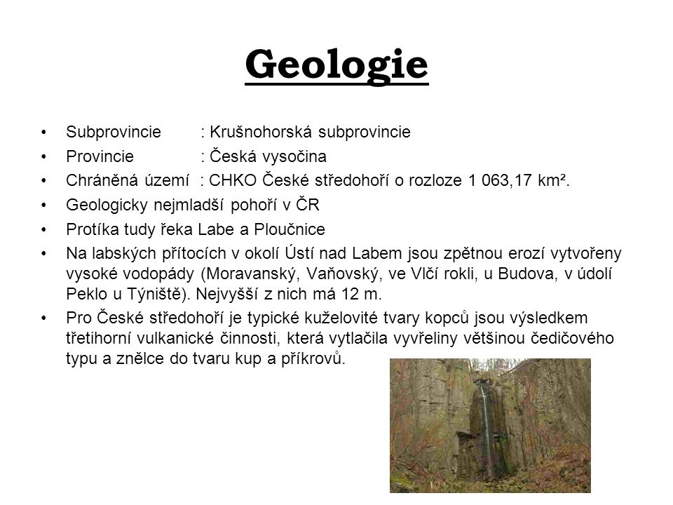 Geologie Subprovincie : Krušnohorská subprovincie